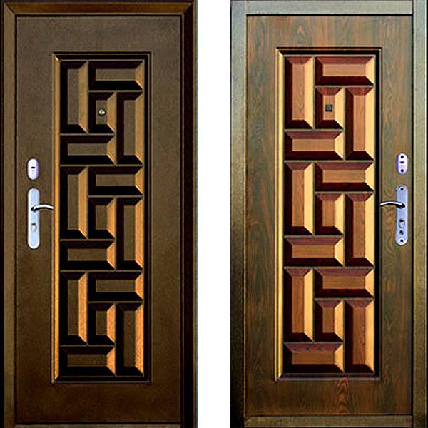 двери входные филенчатые с расстекловкой