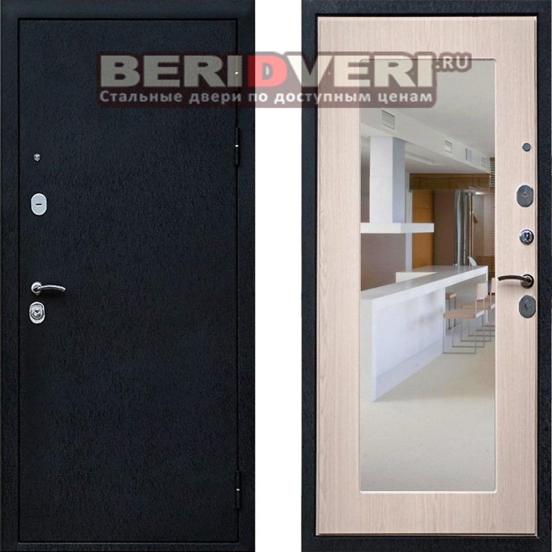 дверь входная металлическая с шумоизоляцией и зеркалом