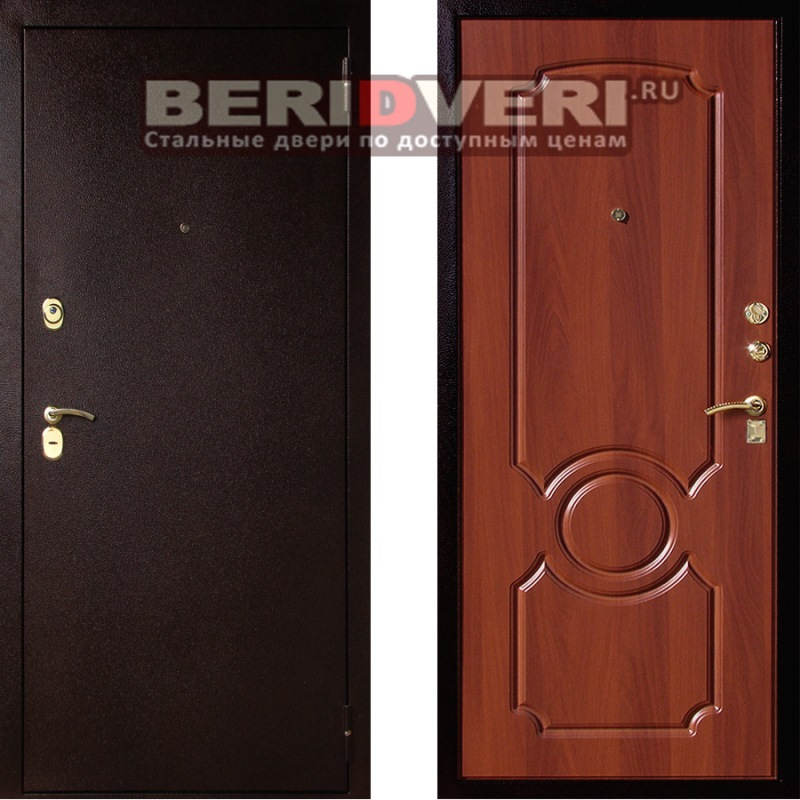 Металлическая дверь Art-Lock-3А Орех Круг