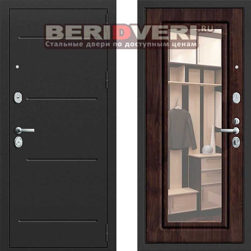 Металлическая дверь Groff P2-206 Темная вишня