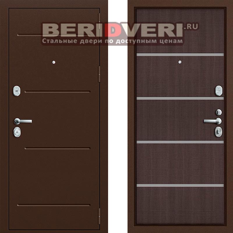 Металлическая дверь Groff T2-204 Венге