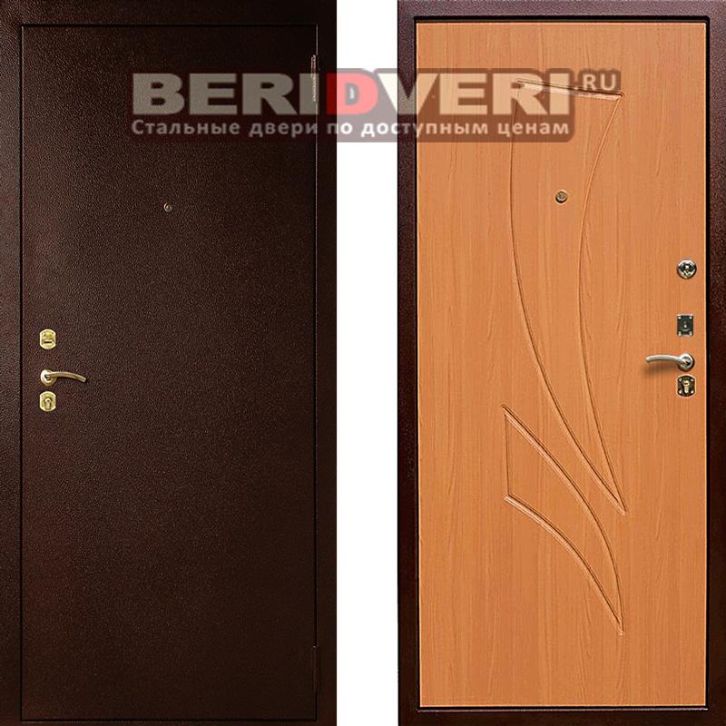 Металлическая дверь Лекс 1 Клен Медовый