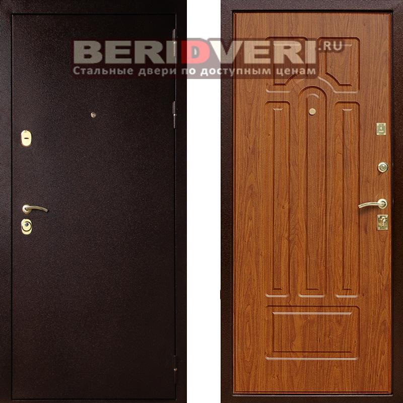 Металлическая дверь Лекс 5А Береза мореная