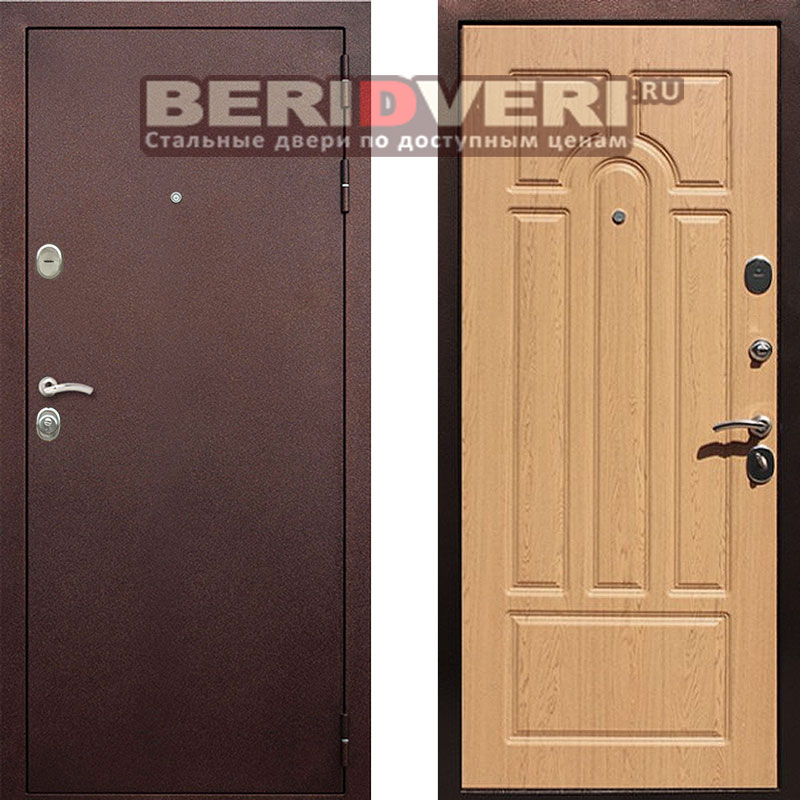 Металлическая дверь REX 5A Дуб