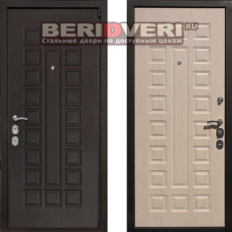Металлическая дверь REX 4A Беленый дуб