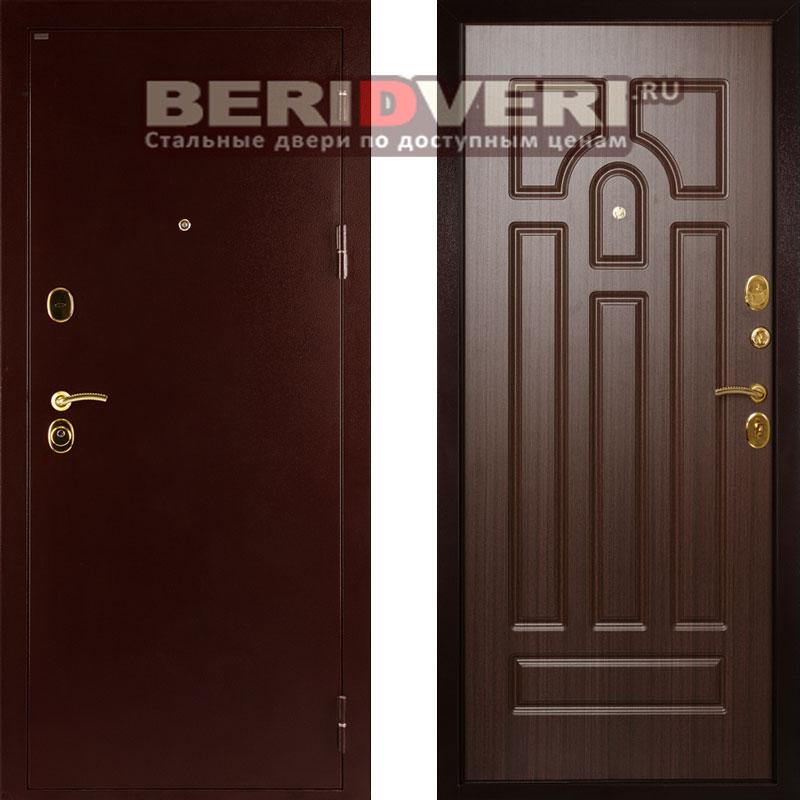 Металлическая дверь Дива МД-09 Орех тисненый