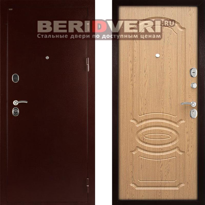 Металлическая дверь Дива МД-09 Дуб светлый