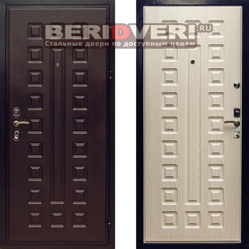 Металлическая дверь REX Гладиатор CISA Беленый дуб