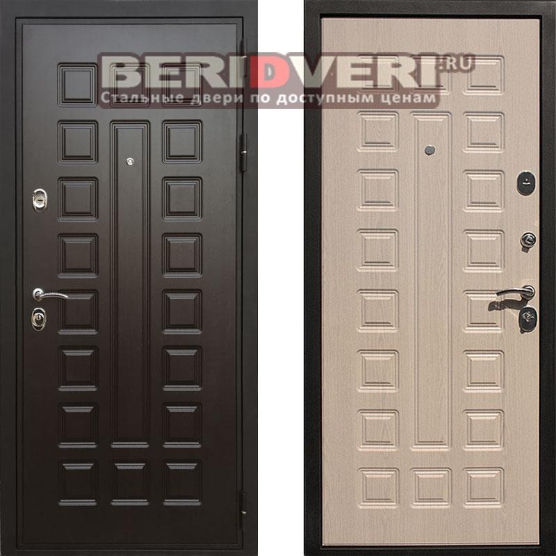 Металлическая дверь REX Премиум 3 (Гладиатор) Беленый дуб