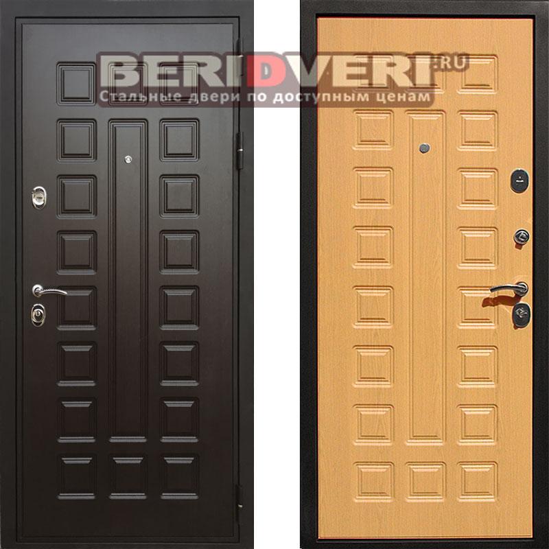 двери металлические светлый дуб