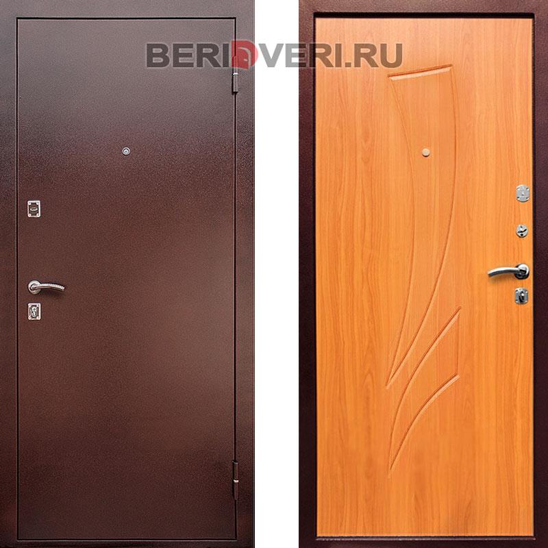 Металлическая дверь REX 1 Клен медовый
