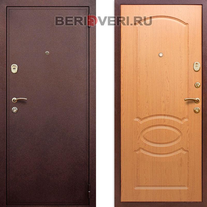 Металлическая дверь  REX 2 Дуб светлый