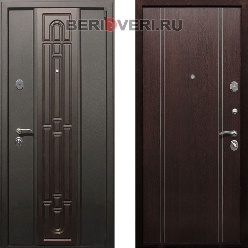 Металлическая дверь REX Комби Венге