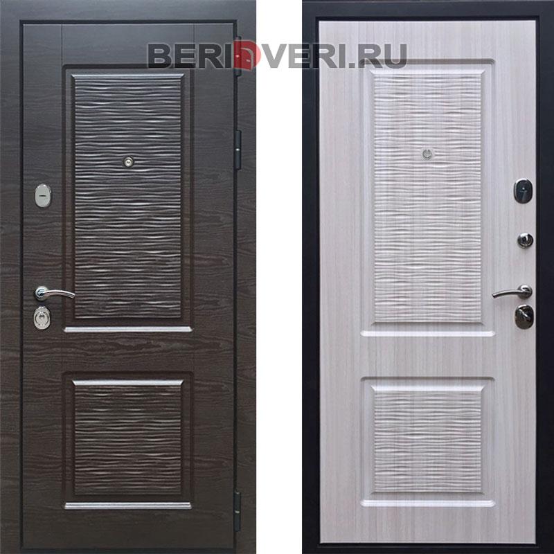 Металлическая дверь REX Лайн 2 Сандал белый