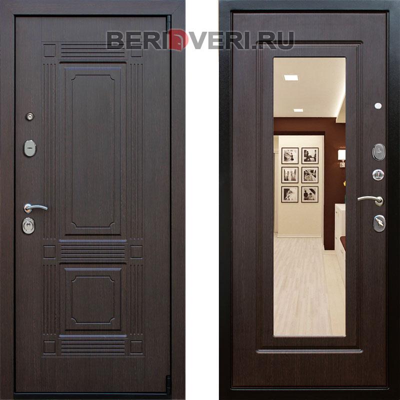 Металлическая дверь REX 9 Зеркало Венге