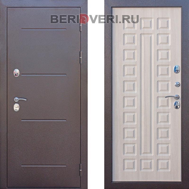 Металлическая дверь Art-Lock Термо Беленый дуб