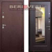 Металлическая дверь REX 5A Зеркало Венге
