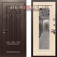 Металлическая дверь REX Эврика Зеркало Беленый дуб