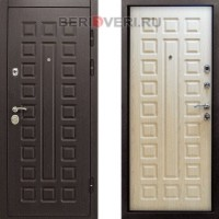 Металлическая дверь Снедо Сенатор 3K Винорит Белая лиственница