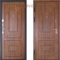 Металлическая дверь ДК Флоренция Золотой дуб (Трёхконтурная)