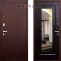 Металлическая дверь REX 1A Зеркало Венге