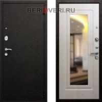 Металлическая дверь REX Верона 6 Зеркало Беленый дуб
