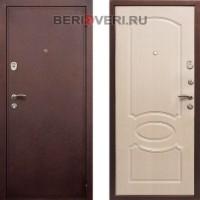 Металлическая дверь  REX 2 Беленый дуб