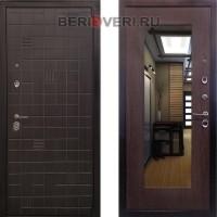 Металлическая дверь Ратибор Силуэт 3К Венге